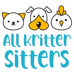 All Kritter Sitters Logo with cat, dog, chicken faces